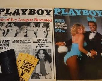 Playboy Magazines, set of 9, 1979-1981
