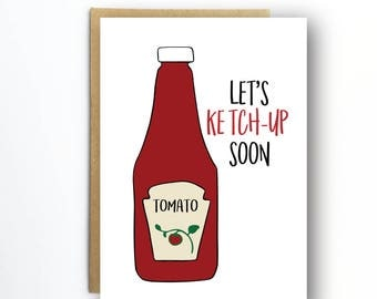 Funny Miss you Card - I am thinking of you Card - Tomato Card - Food Art - long distance card - card for boyfriend - card for girlfriend