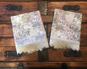 Vintage Style Lace Pillowcases