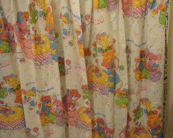 Vintage Popples Curtain Panels (set of 2) 1986 for Bedroom in Excellent Condition
