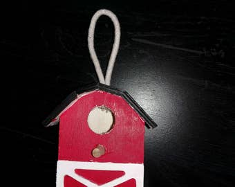 Hand painted wooden birdhouse