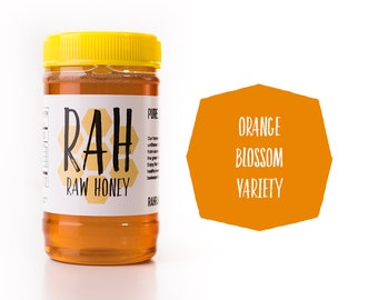 Ojai Orange Blossom Raw Honey - 16oz - Pure. Raw. Un-filtered Honey - California Honey