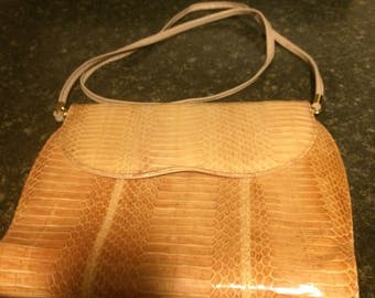 Beautiful Original J Renès  Snakeskin Purse Shoulder Bag