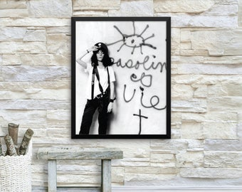 Patti Smith Poster, Premium Luster Photo Paper Framed Poster