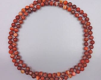 "36"" Red Sardonyx Necklace"