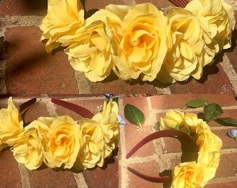 Yellow Sunshine Flower Headband