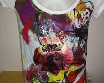 DESIGUAL vest sz XL lady vintage t-shirt
