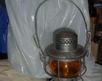 Free Shipping/Railroad Lantern/Vintage Railroad/Vintage Lantern/Rare Lantern/Embossed Lantern/B & O Lantern/1930's Lantern/Lantern Collector