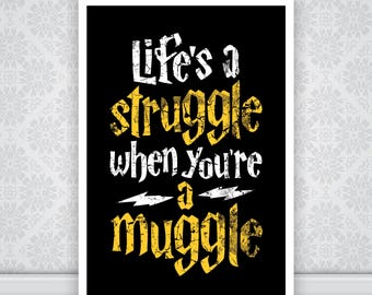 Harry Potter - Life's a Struggle when you're a Muggle.