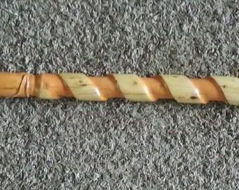 Spruce walking cane