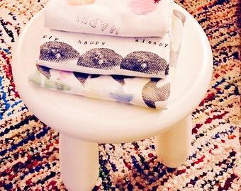 Burp cloths - three pack
