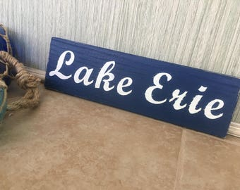 Lake Erie Vintage Look Sign