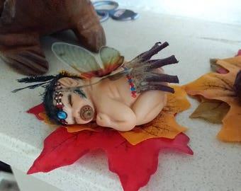 Ooak polymer fairy baby doll