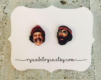 Cheech and Chong Stud Earrings - Best Buds - Stoner Jewelry - Best Friend Gift - Stoner Gift - Fan Jewelry - Up in Smoke - 4:20 - Smokers