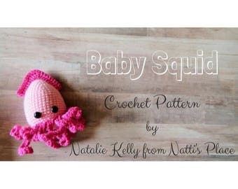 Baby Squid Crochet Pattern PDF Digital Download