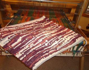 "25x23"" socktop rug, browns"
