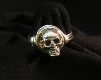 Skull Wire wrapped ring