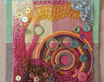 Autumn Circles Art Quilt
