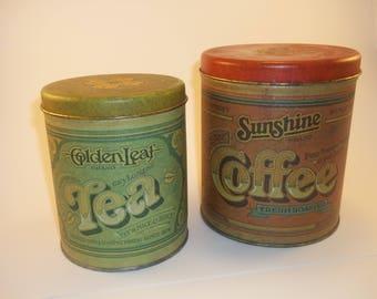 1970's Ballonoff Pentron Coffee & Tea  canister set
