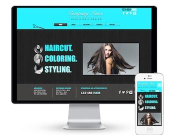 Hair Salon Spa Wix Website Template