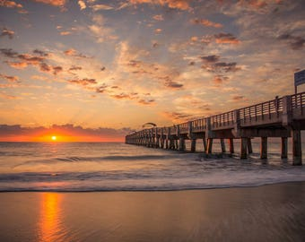 West Palm Beach early morning sunrise canvas! Beautiful! (Many Sizes Available)