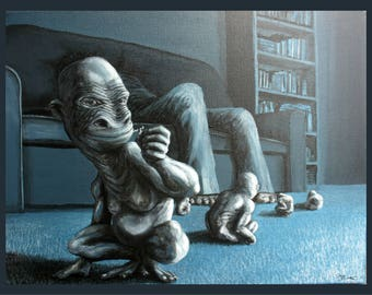 Space Monkeys Art Reproduction (Stretched Print)