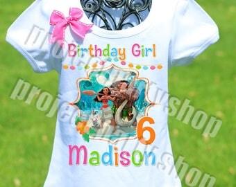 Hawaiian Moana Birthday Shirt