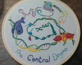 The Central Dogma Embroidery (Brain Tumour Charity)