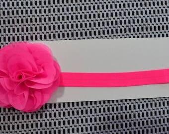 Hot Pink Petal Baby Headband