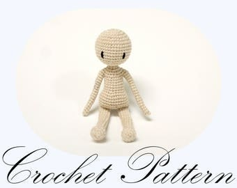 Basic Doll Pattern, Seamless Doll, Seamless Crochet, Amigurumi Doll, Amigurumi PATTERN, Crochet Pattern (English Only)