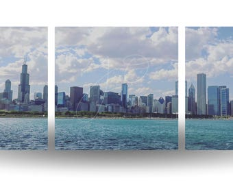 Chicago Skyline (Split Panorama)