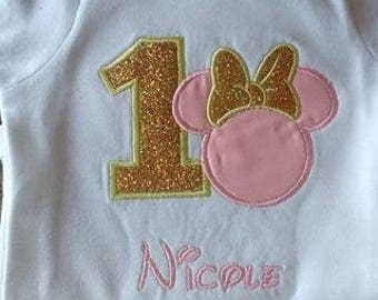 Embroidered and Customized Minnie Shirt