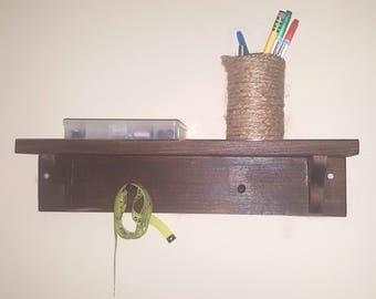Wood hanger and shelf