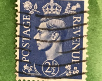 Great Britain 262A101 Used 2 1/2 D Postage Stamp King George VI