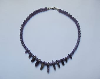 "Necklace with Amethyst ""Wisdom and spirituality"" (42cm; beads: 6 mm)"