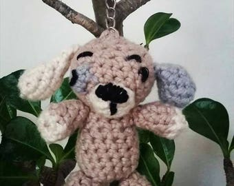 Crochet Puppy Dog Keyring