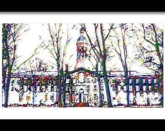 Nassau Hall Princeton Framed Print
