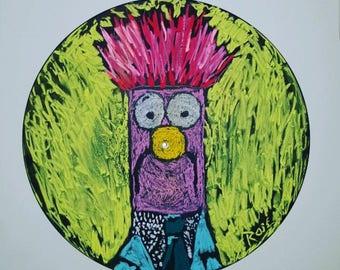 Vinyl Record Beaker Muppet Muppets Chalk