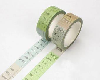 Washi tape - Time or Weekdays