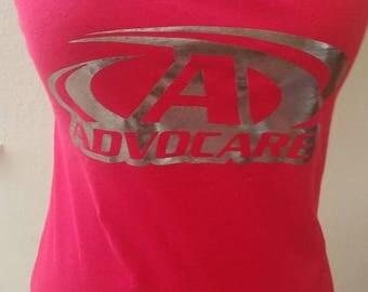 Red & Chrome Advocare tank