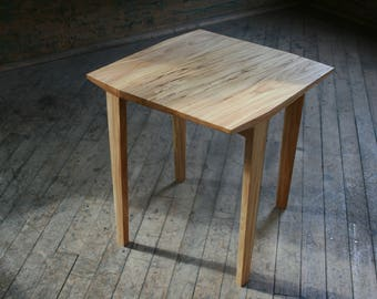 Modern End Table, made from all reclaimed / salvaged wood with natural finishes