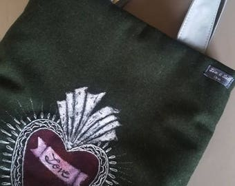 Traditional Loden fabric pouch