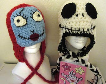 crochet sally and jack hat set