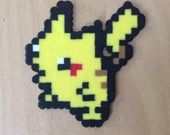 Pikachu Keychain made of hama beads