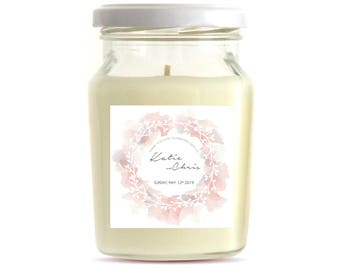 7oz Premium Wedding Favors - Wedding Favor Candles - Personalized Candles - Candle Wedding Favors -Handmade Soy Candles (10 CANDLES)