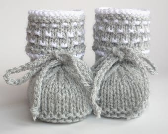 Baby shoes knit knitted baby shoes