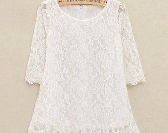 Boutique Lace Girls Summer Dress