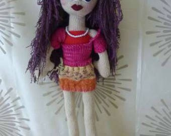 """Hand Knitted """"Babe"""" doll 22 inches, Willow"""