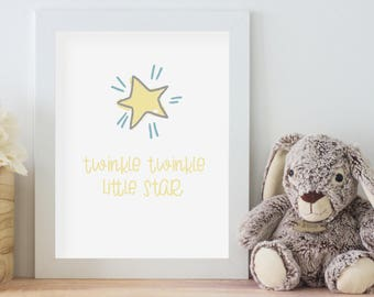 Twinkle Twinkle Little Star - Print Art - Printable Download