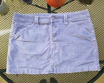 lilac corduroy miniskirt